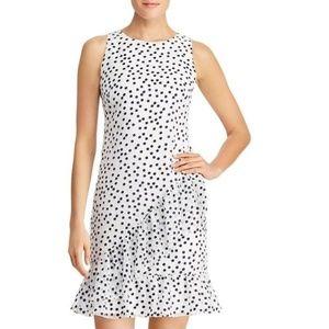 NWT Ralph Lauren White Polka Dot Ruffle Midi Dress